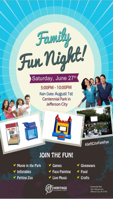 COMMUNITY Heritage Fellowship Family Fun Night