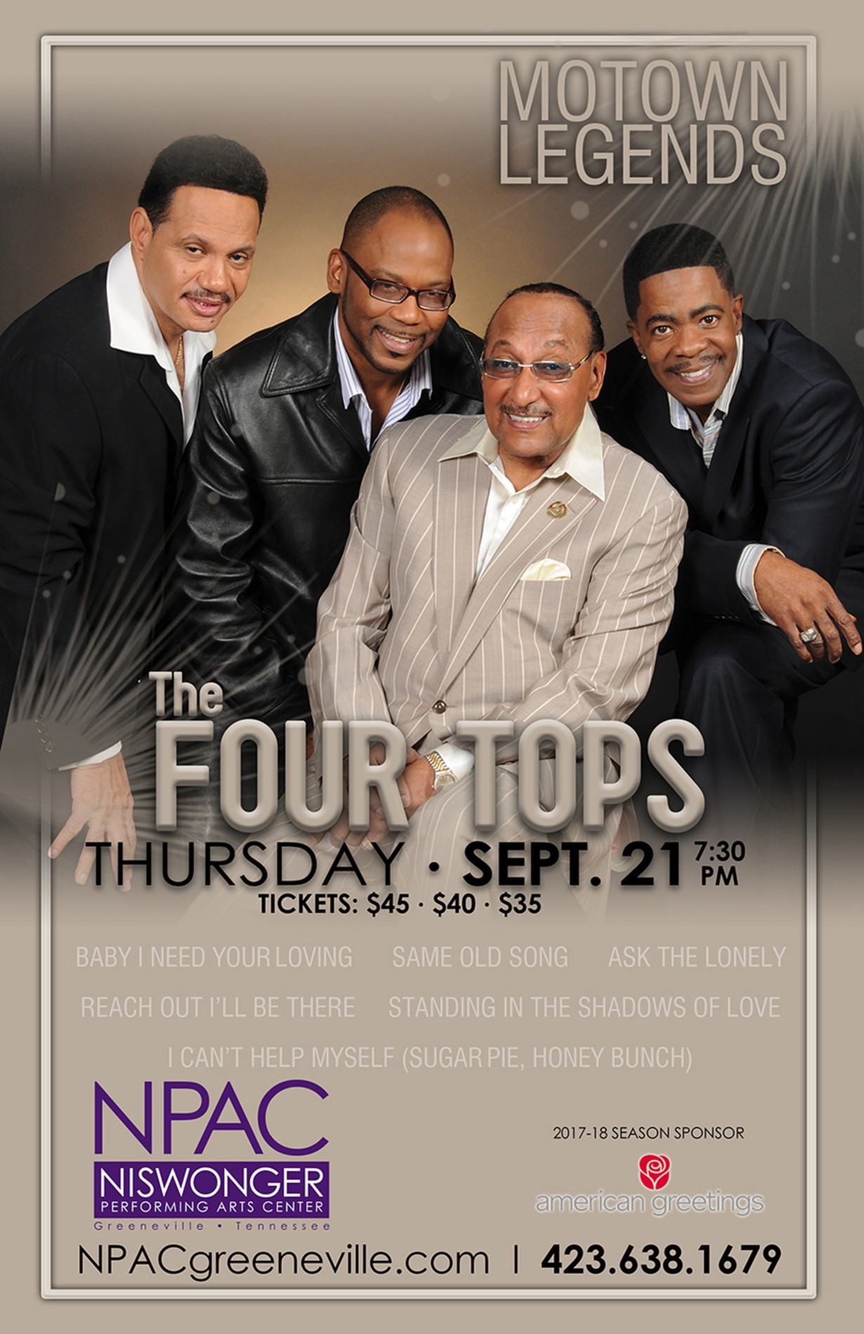 Niswonger performing arts center the four tops jefferson county niswonger performing arts center the four tops m4hsunfo