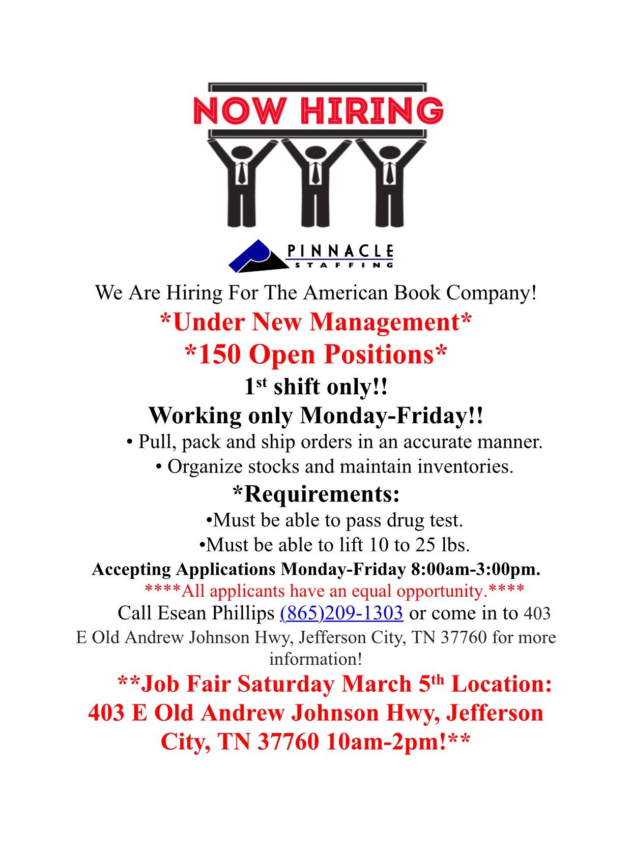 Member American Book Company Job Fair Jefferson City Tn