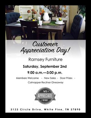 Ramsey Furniture Customer Appreciation Day